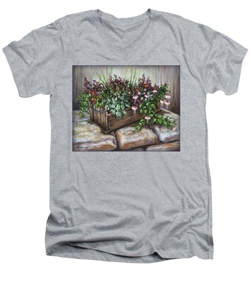 Old Flower Box Men's V-Neck T-Shirt