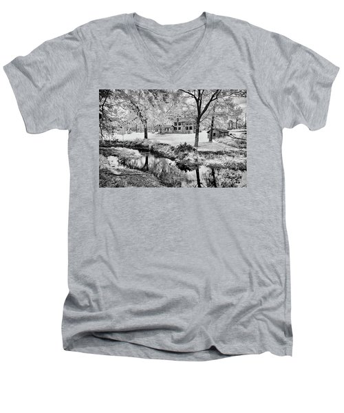 Men's V-Neck T-Shirt featuring the photograph Old Frontier House by Paul W Faust - Impressions of Light