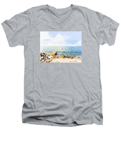 Old Garden Beach  Men's V-Neck T-Shirt