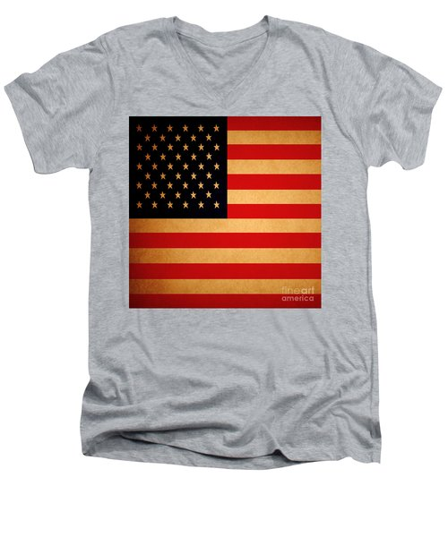 Old Glory . Square Men's V-Neck T-Shirt