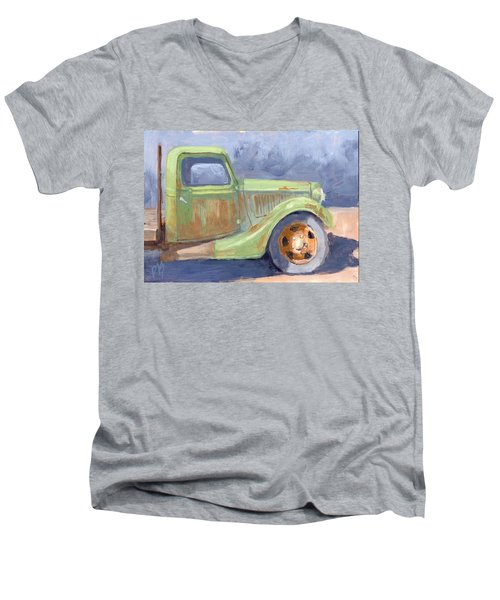 Old Green Ford Men's V-Neck T-Shirt