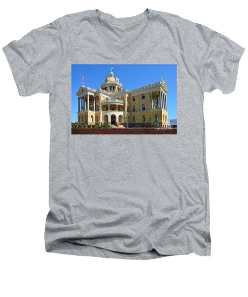 Old Harrison County Courthouse Men's V-Neck T-Shirt
