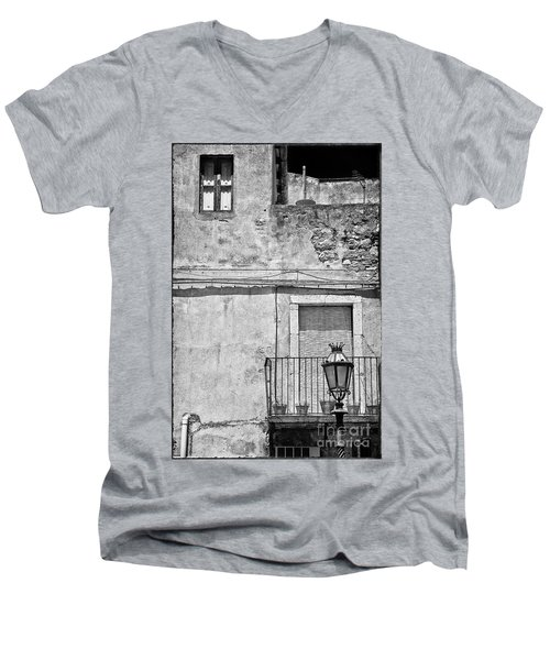Old House In Taormina Sicily Men's V-Neck T-Shirt by Silvia Ganora