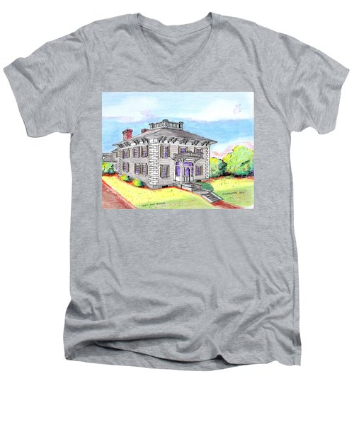 Old Hunt Hospital Men's V-Neck T-Shirt by Paul Meinerth