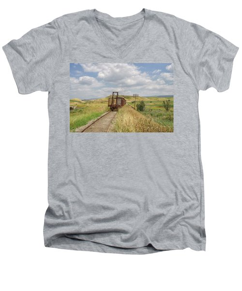 Jezre'el Valley Old Railway Station Men's V-Neck T-Shirt