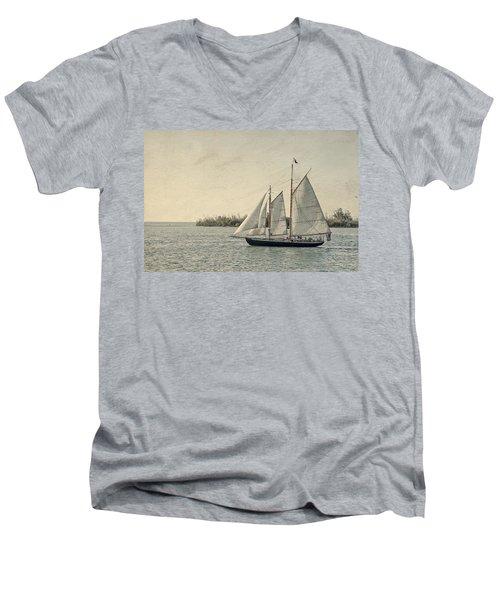 Old Key West Sailing Men's V-Neck T-Shirt