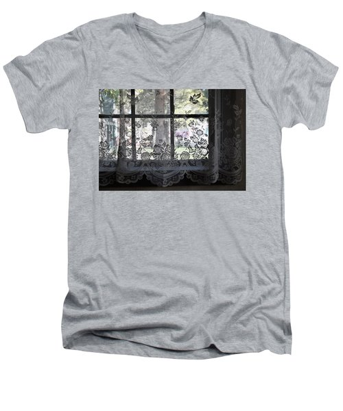 Old Lace And Old Times Men's V-Neck T-Shirt
