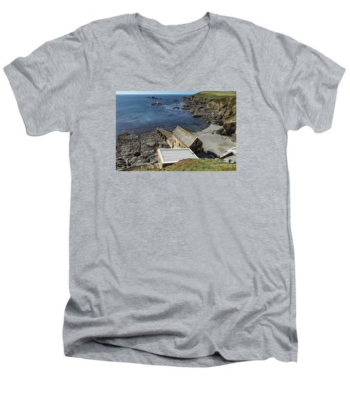 Men's V-Neck T-Shirt featuring the photograph Old Lifeboat Station by Brian Roscorla