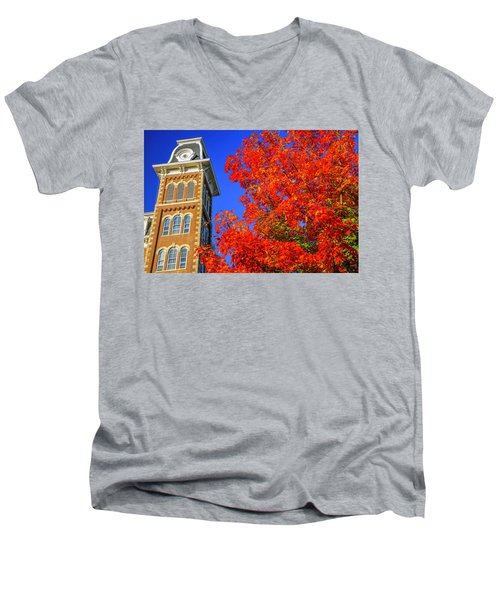 Old Main Maple Men's V-Neck T-Shirt by Damon Shaw