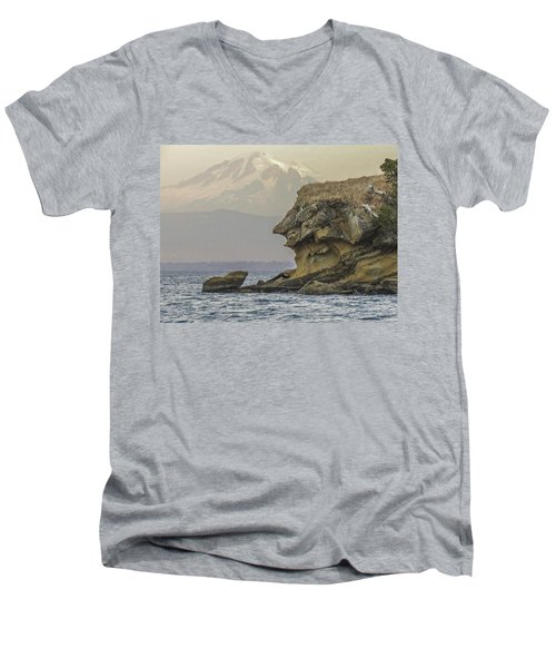 Old Man And The Mountain Men's V-Neck T-Shirt