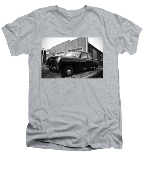 Old Mercedes Sitting At The Shop Men's V-Neck T-Shirt by Janice Adomeit
