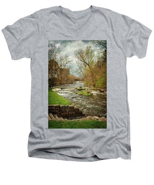Old Mill On The River Men's V-Neck T-Shirt