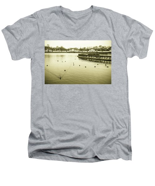 Men's V-Neck T-Shirt featuring the photograph Old Munich by Sergey Simanovsky