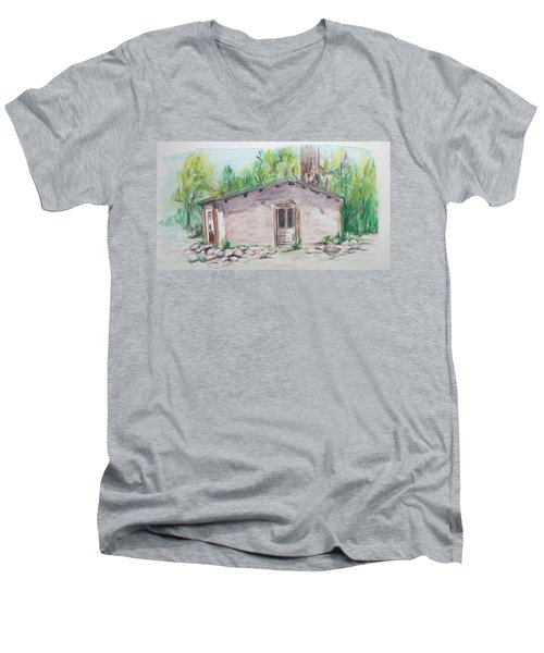Old New Mexico House Men's V-Neck T-Shirt