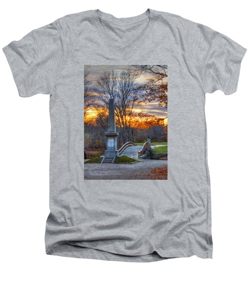 Old North Bridge - Concord Ma Men's V-Neck T-Shirt