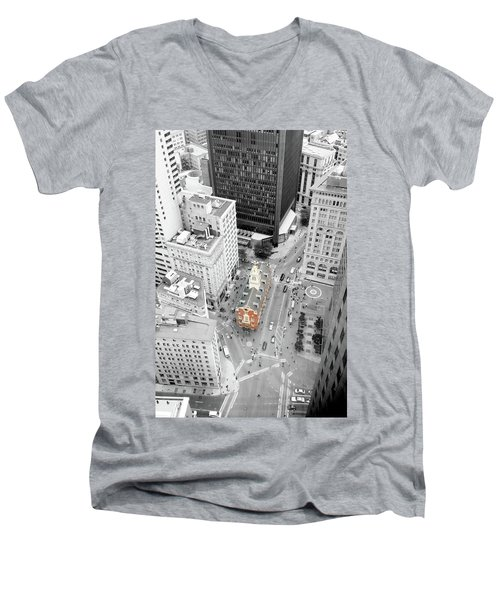 Old State House Men's V-Neck T-Shirt by Greg Fortier