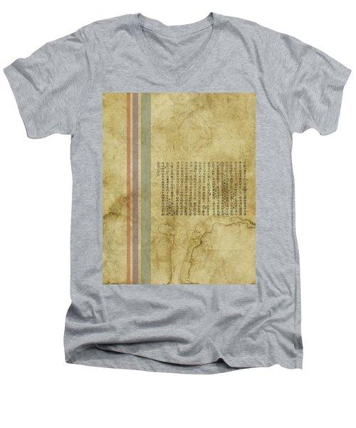 Old Paper Men's V-Neck T-Shirt by Thomas M Pikolin
