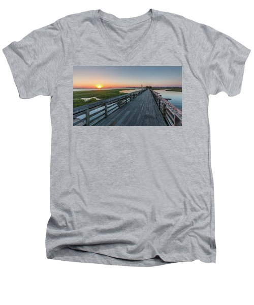 Men's V-Neck T-Shirt featuring the photograph Old Pitt Street Bridge  by Donnie Whitaker