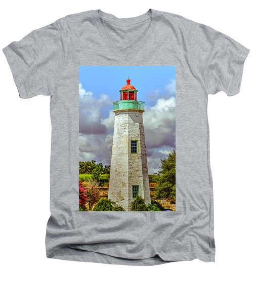 Old Point Comfort Lighthouse Men's V-Neck T-Shirt