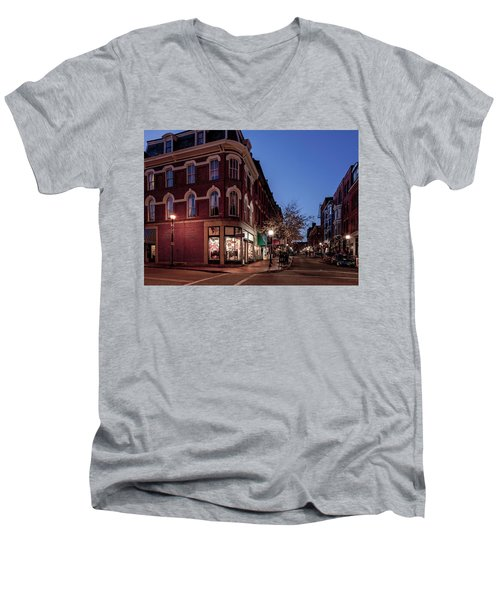 Old Port, Portland Maine Men's V-Neck T-Shirt