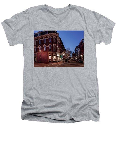Old Port, Portland Maine Men's V-Neck T-Shirt