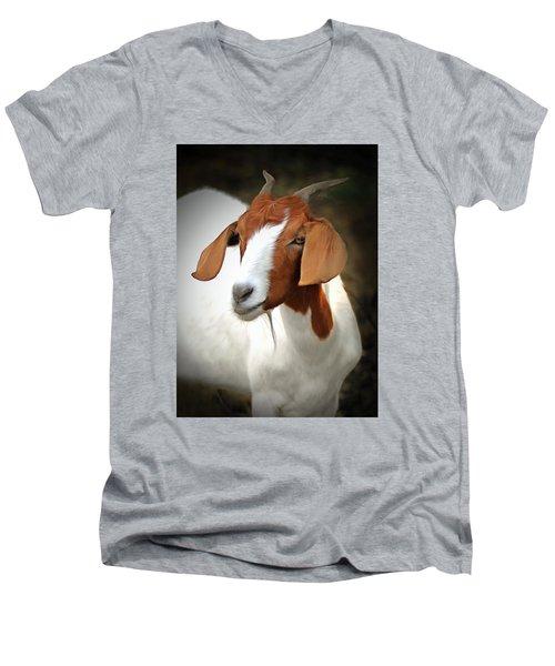 Old Red Men's V-Neck T-Shirt by Marion Johnson