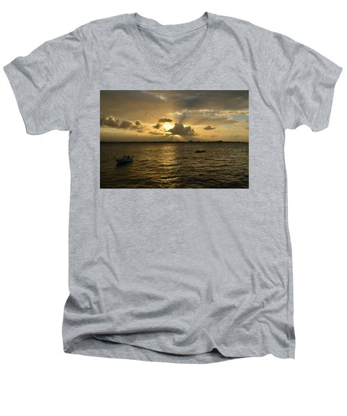 Men's V-Neck T-Shirt featuring the photograph Old San Juan 3772 by Ricardo J Ruiz de Porras