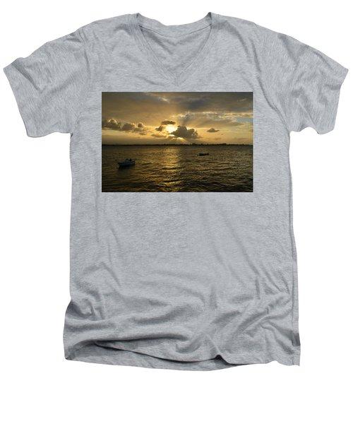 Old San Juan 3772 Men's V-Neck T-Shirt by Ricardo J Ruiz de Porras
