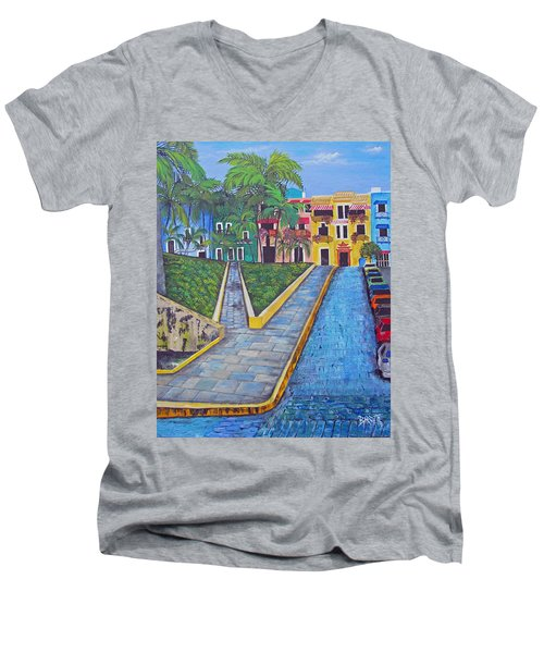 Old San Juan Men's V-Neck T-Shirt
