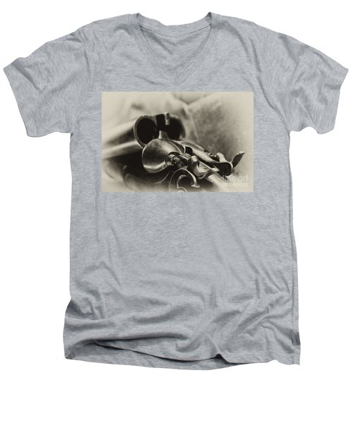 Old Shotgun Men's V-Neck T-Shirt by Wilma  Birdwell