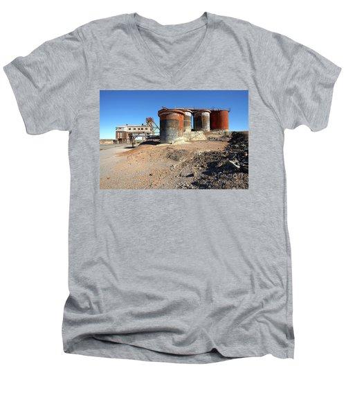 Old Silver Mine Broken Hill Men's V-Neck T-Shirt by Bill Robinson
