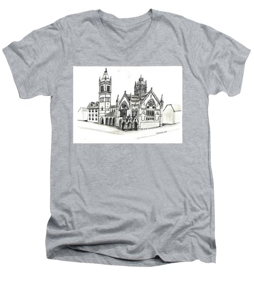 Old South Church - Bosotn Men's V-Neck T-Shirt by Paul Meinerth