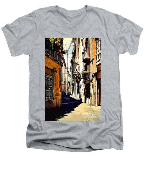 Old Spanish Street Men's V-Neck T-Shirt
