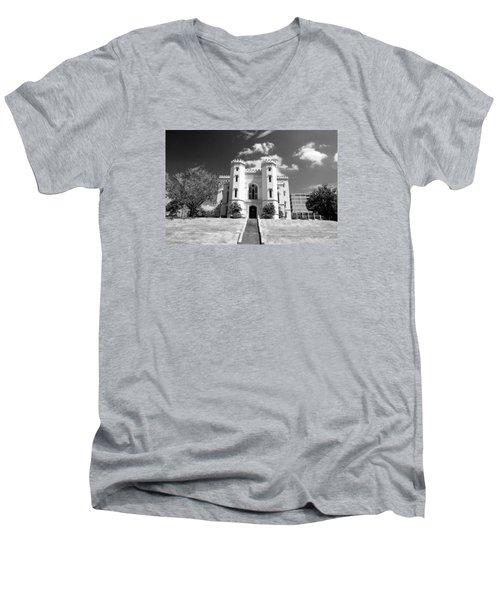 Old State Capital Men's V-Neck T-Shirt by Scott Pellegrin