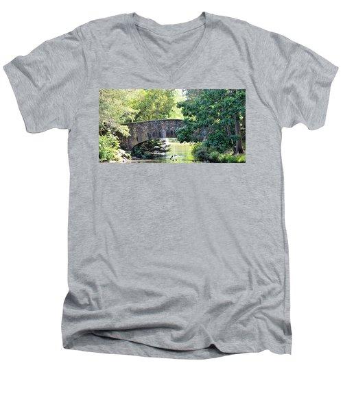 Old Stone Walkway Men's V-Neck T-Shirt