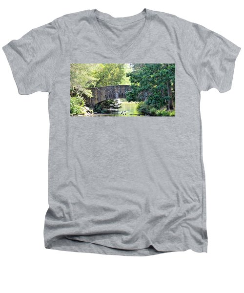 Old Stone Walkway Men's V-Neck T-Shirt