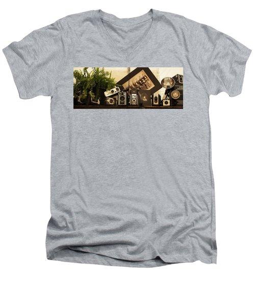 Old Time Photography Men's V-Neck T-Shirt