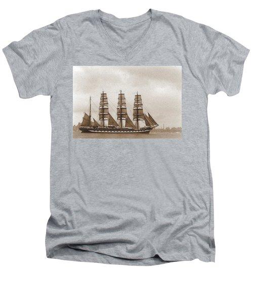 Old Time Schooner Men's V-Neck T-Shirt