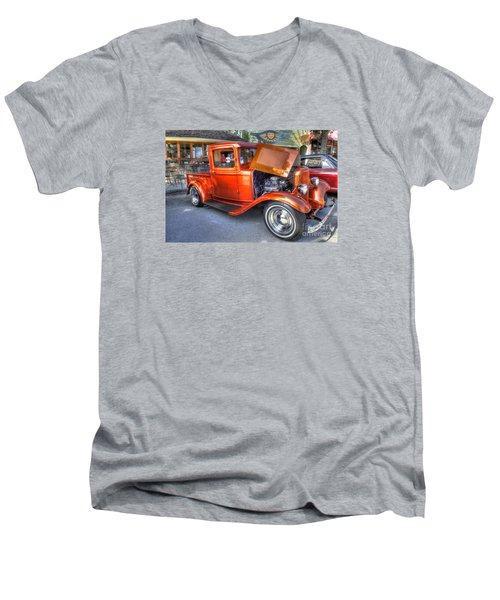 Old Timer Orange Truck Men's V-Neck T-Shirt
