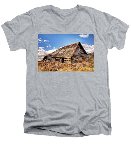 Old Times Men's V-Neck T-Shirt by Ryan Crouse