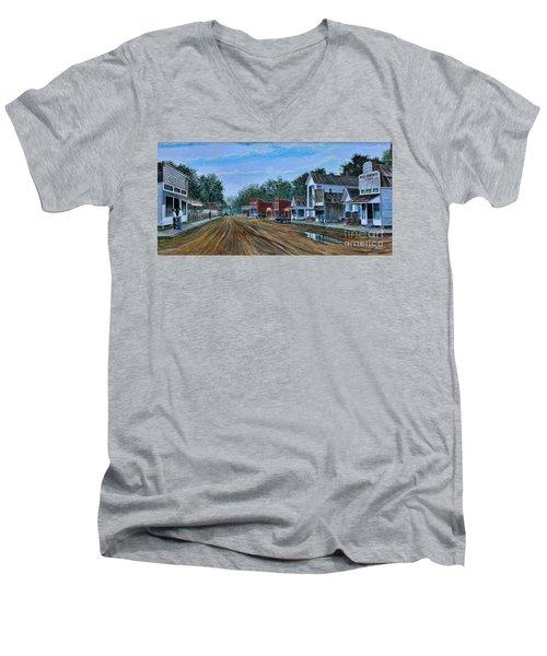 Old Town Breaux Bridge La Men's V-Neck T-Shirt