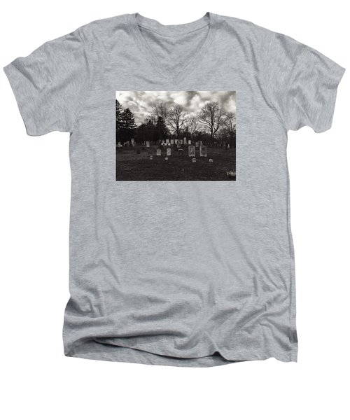 Old Town Cemetery , Sandwich Massachusetts  Men's V-Neck T-Shirt