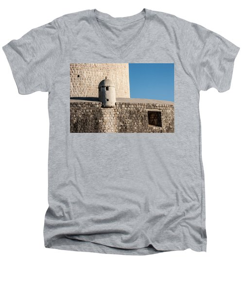 Old Town Dubrovnik Men's V-Neck T-Shirt by Silvia Bruno