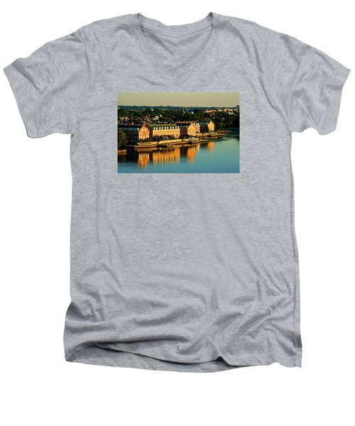 Old Town Va Men's V-Neck T-Shirt