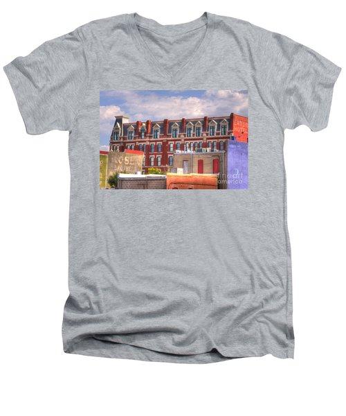 Old Town Wichita Kansas Men's V-Neck T-Shirt by Juli Scalzi