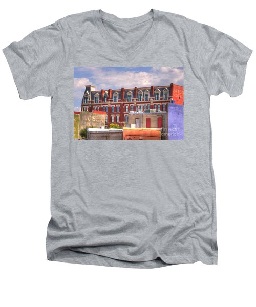 Old Town Wichita Kansas Men's V-Neck T-Shirt