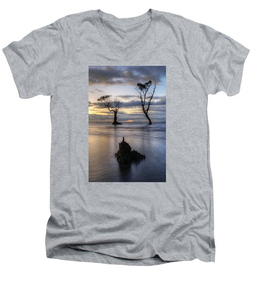 Old Trees Men's V-Neck T-Shirt by Robert Charity
