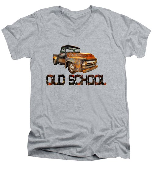 Old Truck Right Attitude Men's V-Neck T-Shirt