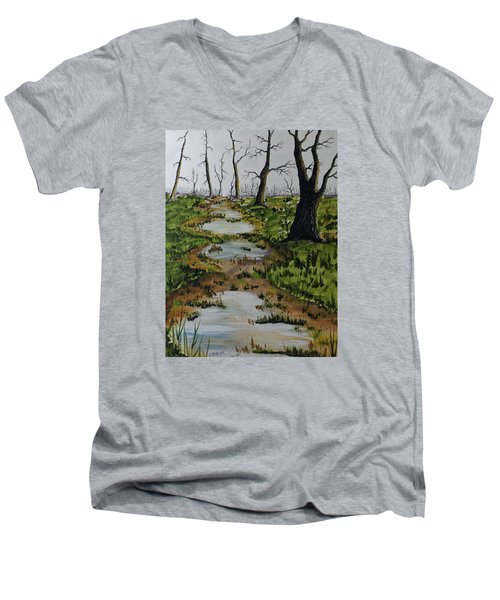 Old Walking Trail Men's V-Neck T-Shirt