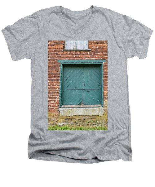 Old Warehouse Loading Door Men's V-Neck T-Shirt